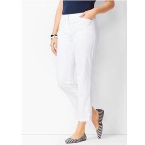 Women's Talbots White Crop Pant Sz 10